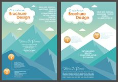 Cartoon Flyer - Brochure with Lovely design Royalty Free Stock Images