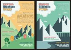 Cartoon Flyer - Brochure Lovely design Stock Photo