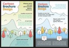 Cartoon Flyer - Brochure with Lovely design Stock Photo