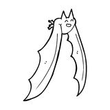 Cartoon flying bat Stock Image