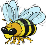 Cartoon flying bee Stock Photo