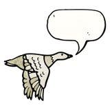 Cartoon flying bird Royalty Free Stock Photo