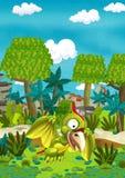Cartoon flying dinosaur Stock Image