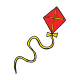 Cartoon flying kite Stock Photography