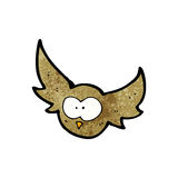 cartoon flying owl Royalty Free Stock Photos