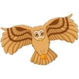 Cartoon flying owl Royalty Free Stock Photos
