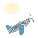 cartoon flying plane Stock Images
