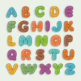 Cartoon Font. Funky Cartoon font, letters from A to Z Royalty Free Stock Photography