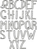 Cartoon font Royalty Free Stock Image