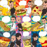 Cartoon food and drink theme Stock Photo