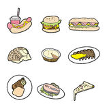 Cartoon food icon Stock Photos