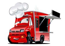 Cartoon food truck Stock Images