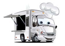 Cartoon food truck Royalty Free Stock Photography