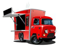 Cartoon food truck. On white background. Available EPS-10 vector format separated by groups and layers for easy edit Royalty Free Illustration