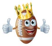 Cartoon football king mascot Stock Photos