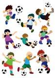 Cartoon football player. Vector drawing Royalty Free Stock Images