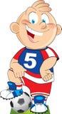 Cartoon football player Royalty Free Stock Photos