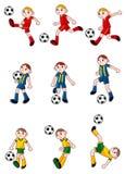 Cartoon Football player icon. Vector drawing Stock Image