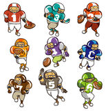 Cartoon football player icon. Vector drawing Stock Images