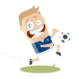 Cartoon football player Royalty Free Stock Images