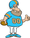 Cartoon football player Stock Image