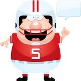 Cartoon Football Player Talking. A cartoon illustration of a football player talking Royalty Free Stock Photo
