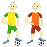 Cartoon Football Players Stock Photo