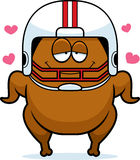 Cartoon Football Turkey in Love Royalty Free Stock Photos