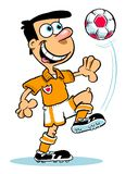 Cartoon of footballer Royalty Free Stock Photo