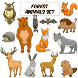 Cartoon forest animals set vector Royalty Free Stock Image