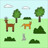 Cartoon forest Stock Photography