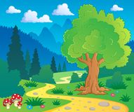 Cartoon forest landscape 8 Stock Images