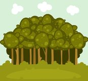 Cartoon forest landscape Stock Photography