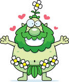 Cartoon Forest Sprite Hug Royalty Free Stock Images