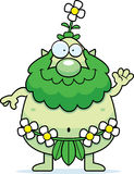 Cartoon Forest Sprite Waving Royalty Free Stock Photography