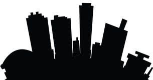 Cartoon Fort Worth. Cartoon skyline silhouette of the city of Fort Worth, Texas, USA Stock Photos