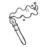 cartoon fountain pen Stock Photos
