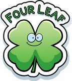 Cartoon Four Leaf Clover Text Royalty Free Stock Photo