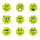 Cartoon four leaf clovers Royalty Free Stock Photos