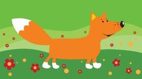 Cartoon fox vector illustration