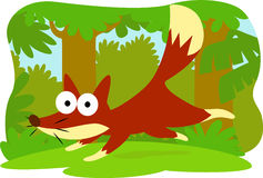 Cartoon fox. Collection cartoon animal character design and vector Royalty Free Stock Images