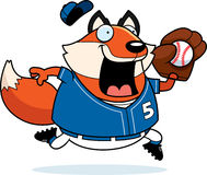Cartoon Fox Baseball Royalty Free Stock Photography