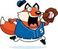 Cartoon Fox Baseball. A cartoon illustration of a fox playing baseball Royalty Free Stock Photography