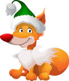 Cartoon fox in hat Stock Photo