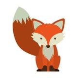 Cartoon fox icon. Fox icon. Animal cartoon and nature theme. Isolated and drawn design. Vector illustration royalty free illustration