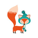 Cartoon fox icon Royalty Free Stock Image