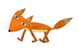 Cartoon fox - illustration for the children Stock Photo