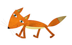 Cartoon fox - illustration for the children Royalty Free Stock Images