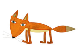 Cartoon fox - illustration for the children Royalty Free Stock Photography