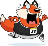 Cartoon Fox Running Race Stock Image